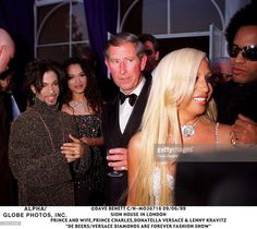 Syon House In London, Prince And Wife,prince Charles, Donatella Versace And Lenny Kravitz, 'De Beers/versace Diamonds Are Forever Fashion Show', Prince The Singer