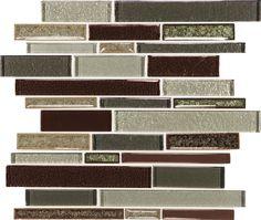 Discount Glass Tile Store - Crystal Shores - Hazel Harbor Random Linear Glass Mosaic Tile, $15.99 (http://www.discountglasstilestore.com/crystal-shores-hazel-harbor-random-linear-glass-mosaic-tile/)