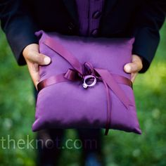 Purple Ring Pillow - Think: enchanted evening | Photo by: YazyJo Photography