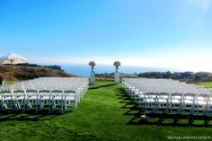 Bodega Bay Golf Course wedding ceremony at The Links at Bodega Harbour. www.BodegaHarbourGolf.com   A one of a kind Bodega Bay wedding with florals by Michael Daigian Design.
