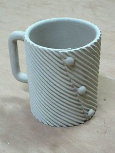 Textured Slab Mug