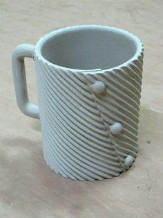 Textured Slab Mug ...I love making this type of mug so simple but looks great!