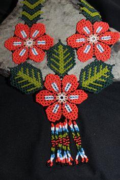 Huichol Peyote Beaded Necklace 1