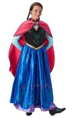 Womens Ladies Anna Dress up Costume Outfit Frozen Disney Princess UK Princess Fancy Dress Costume, Disney Fancy Dress, Adult Fancy Dress, Ladies Fancy Dress, Fancy Dress Outfits, Princess Costumes, Cheveux Beiges, Anna Frozen Costume, Anna Dress