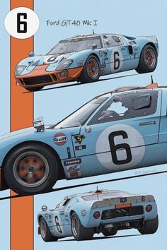 Ford Gt40, Le Mans, Ford Gt Gulf, Drifting Cars, Vintage Race Car, Car Ford, Sexy Cars, Courses, Cool Cars