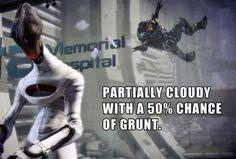 Weather forecast.  Shep: I love you, Grunt. Grunt: Heh, heh, heh.