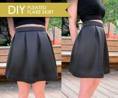DIY Pleated Flare Skirt - FREE Sewing Pattern and Tutorial