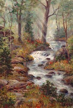 Misty Falls - Acrylic