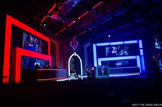 Stage Design, Esports, Staging, Conference, Neon Signs, Ideas, Set Design, Thoughts, Scenic Design