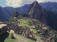 Machu Picchu. My sister just went there!!