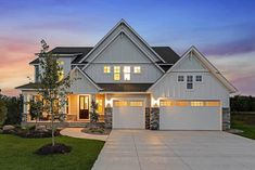 Charming Two Story Home With Garage Floorplans