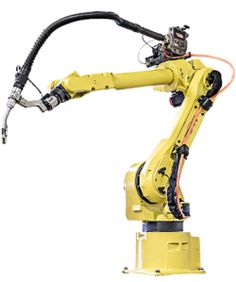 The FANUC ARC Mate robot is one of the more popular robots with versatile welding methods, but with an extended reach. Robot Parts, Robotic Automation, Industrial Robots, Mechanical Design, Spare Parts, Drones, Nasa, Gadgets, Engineering