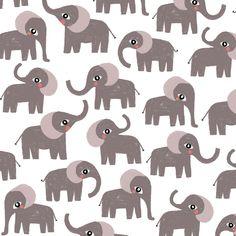 Mini elephant: children pattern, print by Laurence Lavallée aka Flo Elephant Illustration, Friends Illustration, Baby Elephant, Pattern Art, Baby Animals, My Arts, Kids Rugs, Artist, Instagram