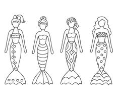 Color sheet mermaids