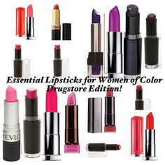 Essential Lipsticks For Women Of Color - Drugstore Edition 2013!