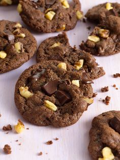 Chocolate cookies become deliciously mocha flavored when McCormick® Pure Coffee Extract is added to the cookie dough. Summer Desserts, Just Desserts, Delicious Desserts, Dessert Recipes, Mocha Cookie Recipe, Cookie Time, Best Cookie Recipes, Breakfast Dessert, Cake Cookies