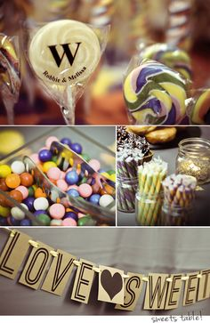 wedding // old-fashioned candy table