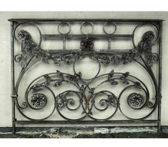 Exceptional pair of wrought iron balconies by José Thenee, a master blacksmith who made his home in Argentina, where he was recognized as one of the best blacksmiths of all time.