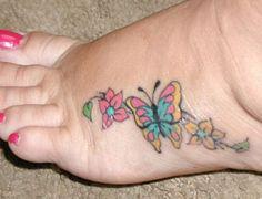 Foot butterfly tattoo designs  http://atattoodesignsforwomen.com/foot-butterfly-tattoo-designs/