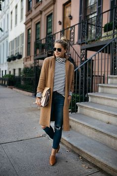 660b89c97 7 Easy (and Stylish) Outfits to Wear to Thanksgiving Outfits With Striped  Shirts