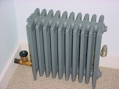 Can anyone tell me if typical radiators get too hot for toddlers to be around & touch? It's an older house, oil heat & huge radiators all Steam Radiators, Cast Iron Radiators, Building Management, Radiator Valves, Five In A Row, Glass Pipes, Old Building, Home Repairs, Water Supply