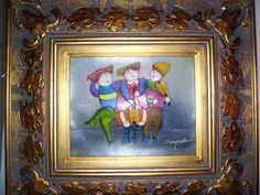 Bought this beautifully framed J Roybal painting at a consignment shop for $62! It makes me smile.