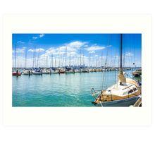 Hobsons Bay Marina on a Summer Day Art Print
