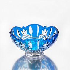 StudioSilversmiths 43984 Crystal Case Large Candy Dish - Blue