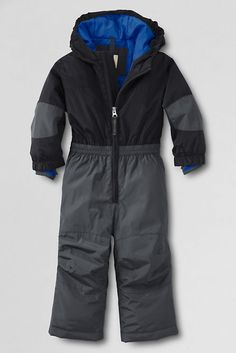 Toddler Boys' Solid Stormer Snowsuit from Lands' End