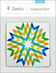 Outburst Quilt Pattern by Sewlio on Etsy Cute Quilts, Lap Quilts, Mini Quilts, Quilting Projects, Quilting Designs, Quilting Ideas, Sewing Projects, Lap Quilt Patterns, Block Patterns