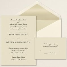 Exclusively Weddings Modern Elegance Wedding Invitation gives a crisp and contemporary invite with a simple design.