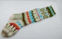 Hand Knitted Christmas Stocking Hand Made 1