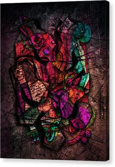 Abstract Violin Canvas Print - Cacophony In Z Minor by Gary Bodnar Violin Art, Framed Prints, Canvas Prints, Art Pages, Fine Art America, Digital Art, Greeting Cards, Tapestry, Wall Art