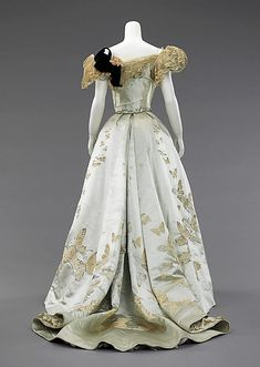 Ball gown House of Worth (French, 1858–1956) Designer: Jean-Philippe Worth (French, 1856–1926) Date: 1898 Culture: French Medium: silk, rhinestones, metal