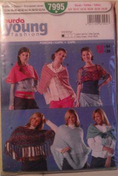 Patron Burda young fashion poncho/cape : Patrons par le-fil