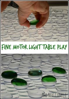 Fine motor light table play for toddlers from And Next Comes L