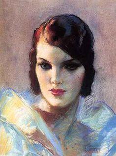 A pastel portrait by John La Gatta.