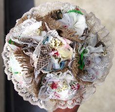 'Hessian & Lace' Wedding bouquet