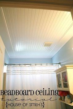 Beadboard ceiling...same pic but better lighting