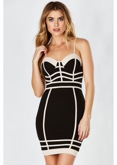 Court Me Mini Dress in Black