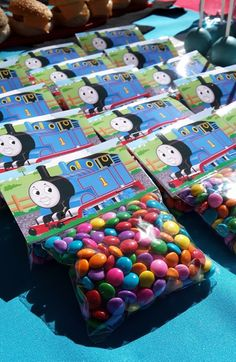 Sweets Packets with Thomas the Tank Engine Bag Toppers