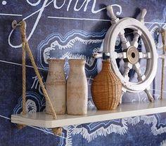 Nautical shelf for boys' bedroom | Pottery Barn Kids - easy to DIY