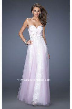 Prom Dresses Lavender Beaded Sweetheart by La Femme 19967