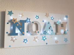 toile lumineuse lettres en bois personnalis maddy d coration pour enfants par toile. Black Bedroom Furniture Sets. Home Design Ideas