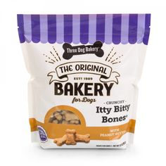 If your pup LOVES a good crunch, look no further than Three Dog Bakery's Itty Bitty Bones with Peanut Butter. Check out our website for more!