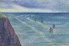 Maximilien Luce - Camaret, bateaux de pêche sur la côte  1894