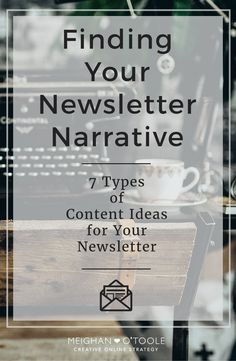Coming up with content for your newsletter can be hard in the beginning. But once you get started you'll see how much there really is to write about!