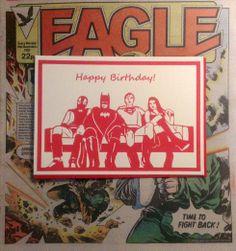 Hetty and Baar's Happy Birthday Hero Card. Print taken from original Hero paper cutting.