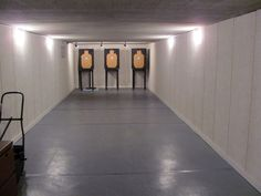 Indoor archery/shooting range might need to be incorporated into the man cave Indoor Shooting Range, Indoor Range, Indoor Archery Range, Paintball, Reloading Room, Gun Rooms, Safe Room, Gun Storage, My Dream Home