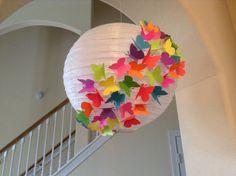 14 confetti Cupcake paper lantern butterfly by New8eginnings, $9.08
